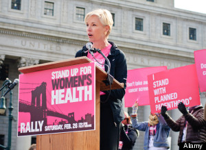 Cecile Richards speaking at the Rally for Women's Health at Foley Square in Manhattan. Feb. 26, 2011