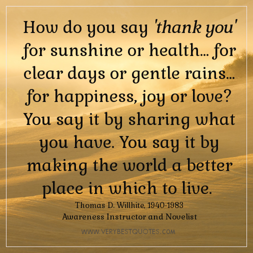 Inspirational Thank You Quotes thank you quotes inspirational quotes – LadyRomp Inspirational Thank You Quotes